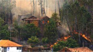 Portekiz'deki son yangınlarda birçok kişi son dakikada evden ayrılmaya çalışırken hayatını kaybetmişti.